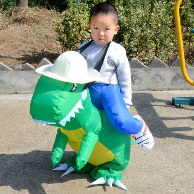 Kids Ride Dinosaur Shaped Inflatable CostumeNovelty Toys<br>Kids Ride Dinosaur Shaped Inflatable Costume<br><br>Features: Inflatable<br>Materials: Polyester<br>Package Contents: 1 x Inflatable Costume<br>Package size: 40.00 x 30.00 x 10.00 cm / 15.75 x 11.81 x 3.94 inches<br>Package weight: 0.4500 kg<br>Product weight: 0.3500 kg<br>Series: Entertainment<br>Theme: Animals