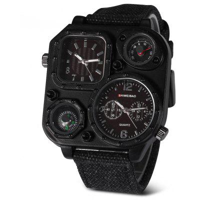 Buy BLACK SHI WEI BAO J1169 Male Double Movt Watch with Compass for $14.26 in GearBest store