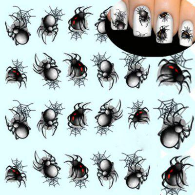 1 Blatt Halloween Stil Spinnen Nail Art Sticker Aufkleber