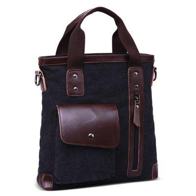 Buy BLACK Men Leisure Retro Business Canvas Shoulder Bag for $27.99 in GearBest store