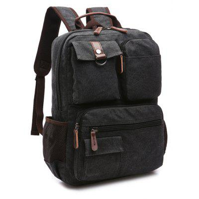 Men Fashion Retro Canvas Travel BackpackBackpacks<br>Men Fashion Retro Canvas Travel Backpack<br><br>Closure Type: Zip<br>Features: Wearable<br>For: Traveling, Shopping, Outdoor, Hiking, Daily Use, Climbing<br>Gender: Men<br>Material: Polyester, Canvas<br>Package Size(L x W x H): 44.00 x 35.00 x 4.00 cm / 17.32 x 13.78 x 1.57 inches<br>Package weight: 0.8200 kg<br>Packing List: 1 x Backpack<br>Product weight: 0.8000 kg<br>Style: Casual, Fashion<br>Type: Backpacks