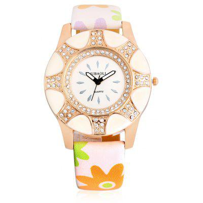 Buy LIGHT PURPLE Jubaoli A2013 Female Quartz Watch with Leather Band for $5.03 in GearBest store