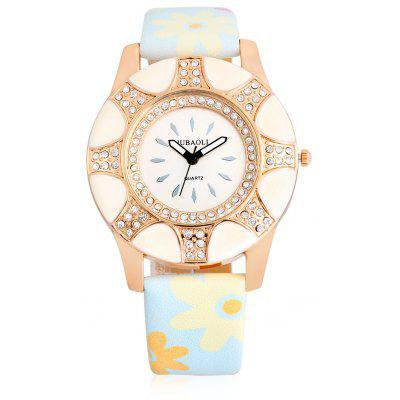Buy LIGHT BLUE Jubaoli A2013 Female Quartz Watch with Leather Band for $5.03 in GearBest store