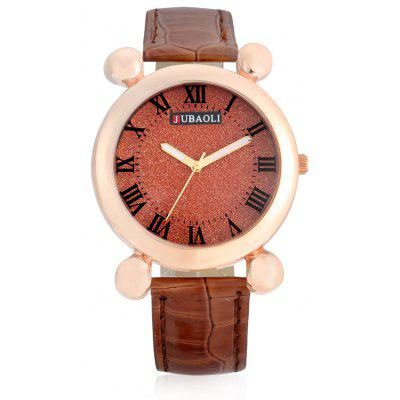 Buy BROWN Jubaoli A2012 Female Quartz Watch with Leather Band for $5.87 in GearBest store