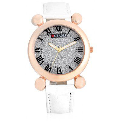 Buy WHITE Jubaoli A2012 Female Quartz Watch with Leather Band for $4.93 in GearBest store