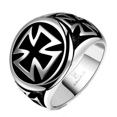Male Retro Wind Cross Ring