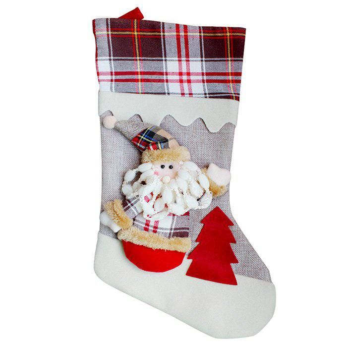 Santa Claus Style Christmas Stocking Festival Decoration