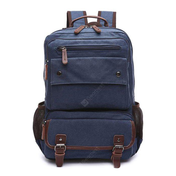 Men Outdoor Fashion Retro Canvas Travel Backpack
