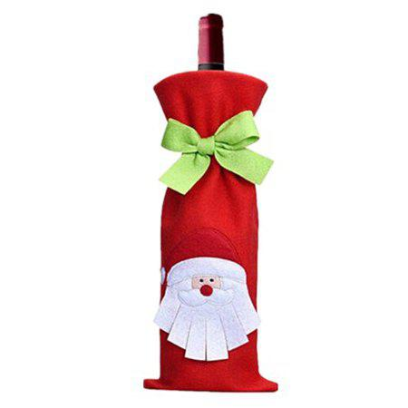 Santa Claus Wine Bottle Cover Red Wine Bag