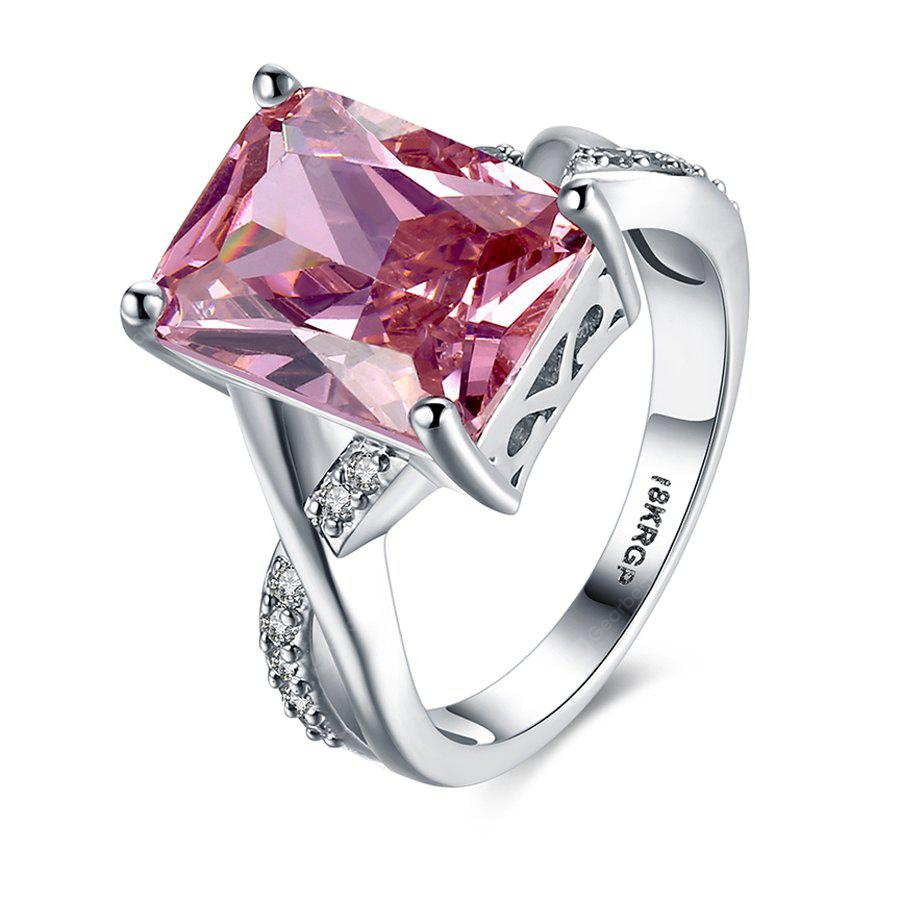 Pink Diamond Eight Heart Four Claws Ring