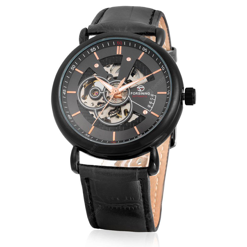 Forsining A726 Business Leather Band Men Mechanical Watch