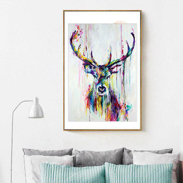 Modern Elk Pattern Unframed Decorative Canvas Print