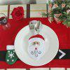 Rustproof Decorative Santa Claus Tableware Set Cover - RED