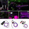 BRELONG 3m DC 12V Purple EL LED Flexible Neon Cold Strip Light for Decoration - PURPLE