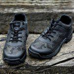 Free Soldier Breathable Men Hiking Shoes - BLACK