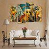 4 Panels Unframed Ancient Egypt Pattern Canvas Print - COLORMIX