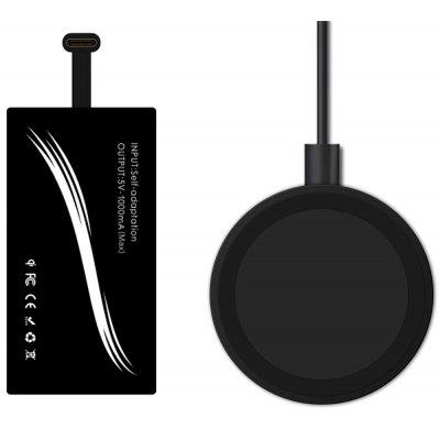 Qi Standard Wireless Charger Type-C Charging Receiver Kit