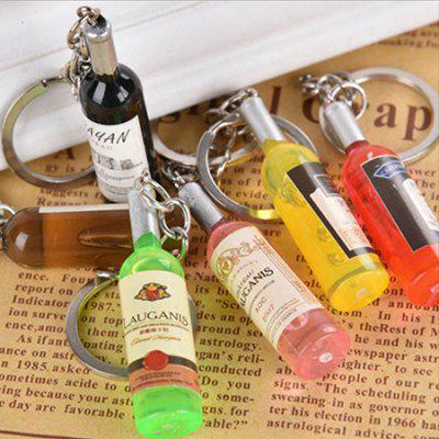 1pc Creative Keychain with Vine Bottle Design PendantKey Chains<br>1pc Creative Keychain with Vine Bottle Design Pendant<br><br>Design Style: Fashion<br>Gender: Unisex<br>Materials: Acrylic, Metal<br>Package Contents: 1 x Keychain<br>Package size: 13.50 x 6.00 x 6.00 cm / 5.31 x 2.36 x 2.36 inches<br>Package weight: 0.0085 kg<br>Product size: 11.50 x 5.00 x 5.00 cm / 4.53 x 1.97 x 1.97 inches<br>Product weight: 0.0075 kg<br>Stem From: China<br>Theme: Other