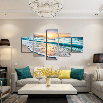 5PCS Sea Wave View Printed Painting Canvas PrintPrints<br>5PCS Sea Wave View Printed Painting Canvas Print<br><br>Craft: Print<br>Form: Five Panels<br>Material: Canvas<br>Package Contents: 5 x Print<br>Package size (L x W x H): 42.00 x 6.00 x 6.00 cm / 16.54 x 2.36 x 2.36 inches<br>Package weight: 0.4000 kg<br>Painting: Without Inner Frame<br>Product weight: 0.3600 kg<br>Shape: Horizontal Panoramic<br>Style: Modern<br>Subjects: Landscape<br>Suitable Space: Bedroom,Dining Room,Hotel,Living Room,Office