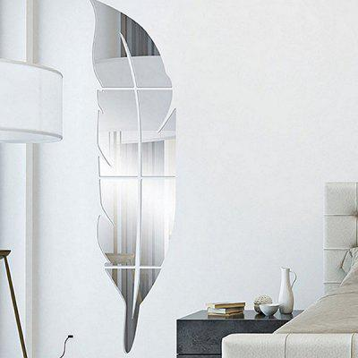 Buy Mirror Effect Leaf Shape DIY Decorations Wall Sticker SILVER Home & Garden > Home Decors > Wall Art > Wall Stickers for $9.68 in GearBest store