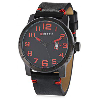 Buy Curren 8254 Male Quartz Watch, RED WITH BLACK, MALE, Watches & Jewelry, Men's Watches for $20.60 in GearBest store