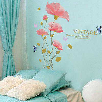 Buy COLORMIX Creative DIY Removable Cartoon Flowers Wall Sticker for $9.09 in GearBest store