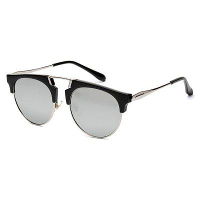 Buy REFLECTIVE WHITE COLOR Reflective Classic Unisex Sunglasses for $7.46 in GearBest store