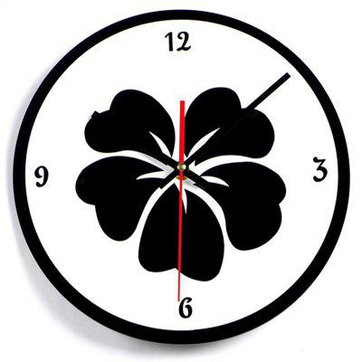 Buy M.Sparkling Creative Flower Pattern Simple Wall Clock, BLACK WHITE, Home & Garden, Home Decors, Clocks for $15.61 in GearBest store
