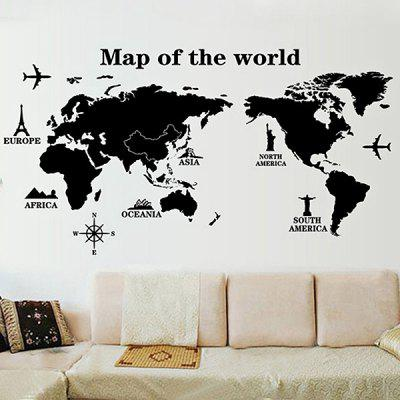 Diy home decor world map wallpaper wall sticker 619 online diy home decor world map wallpaper wall sticker gumiabroncs Gallery