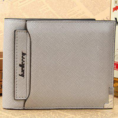 Baellerry Men Chic Solid Color Bifold PU Carteira