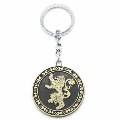 Stylish Lion Pattern Zinc Alloy Key Ring