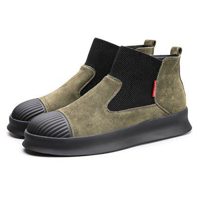 Masculino Stylish Split Joint Tobogã Top Slip On Casual Shoes