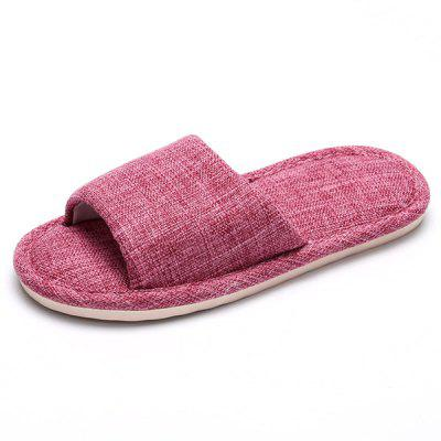 Female Solid Color Breathable Home Slippers