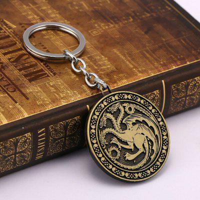 Stylish Relievo Pattern Zinc Alloy Key Ring