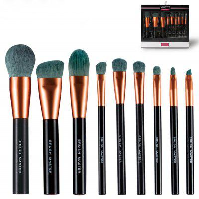BrushMaster BM - S18 9PCS Premium Makeup Brushes