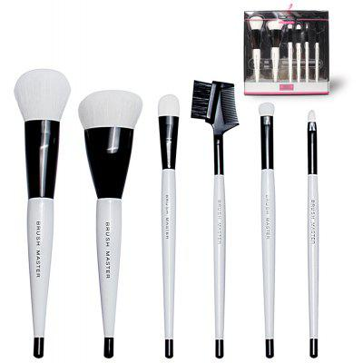 BrushMaster BM - S05 - B 6PCS Black Synthetic Makeup Brush