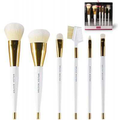BrushMaster BM - S08 - C Portable 6PCS Makeup Brushes