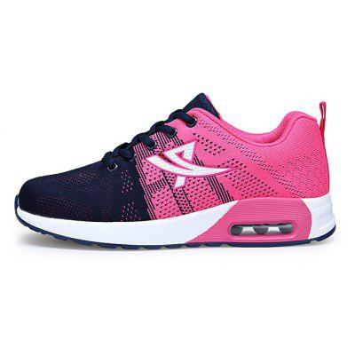 Female Breathable Soft Air Cushion Running SneakersWomens Sneakers<br>Female Breathable Soft Air Cushion Running Sneakers<br><br>Closure Type: Lace-Up<br>Contents: 1 x Pair of Shoes<br>Decoration: Weave<br>Materials: PU, Woven Fabric, Mesh<br>Occasion: Sports, Shopping, Riding, Outdoor Clothing, Holiday, Casual, Running<br>Outsole Material: PU<br>Package Size ( L x W x H ): 33.00 x 22.00 x 11.00 cm / 12.99 x 8.66 x 4.33 inches<br>Package Weights: 0.65kg<br>Seasons: Autumn,Spring<br>Style: Modern, Leisure, Fashion, Comfortable, Casual<br>Toe Shape: Round Toe<br>Type: Sports Shoes<br>Upper Material: Mesh,Woven Fabric