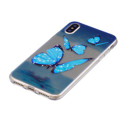 Blue Butterfly Pattern Protective Cover Case for iPhone XiPhone Cases/Covers<br>Blue Butterfly Pattern Protective Cover Case for iPhone X<br><br>Features: Anti-knock, Back Cover, Dirt-resistant<br>Material: TPU<br>Package Contents: 1 x Case<br>Package size (L x W x H): 15.00 x 8.00 x 1.80 cm / 5.91 x 3.15 x 0.71 inches<br>Package weight: 0.0180 kg<br>Product size (L x W x H): 14.00 x 7.00 x 0.80 cm / 5.51 x 2.76 x 0.31 inches<br>Product weight: 0.0170 kg<br>Style: Pattern, Ultra Slim