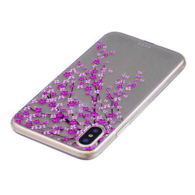Peach Blossom Pattern Protective Cover Case for iPhone XiPhone Cases/Covers<br>Peach Blossom Pattern Protective Cover Case for iPhone X<br><br>Features: Anti-knock, Back Cover, Dirt-resistant<br>Material: TPU<br>Package Contents: 1 x Case<br>Package size (L x W x H): 15.00 x 8.00 x 1.80 cm / 5.91 x 3.15 x 0.71 inches<br>Package weight: 0.0180 kg<br>Product size (L x W x H): 14.00 x 7.00 x 0.80 cm / 5.51 x 2.76 x 0.31 inches<br>Product weight: 0.0170 kg<br>Style: Pattern, Ultra Slim