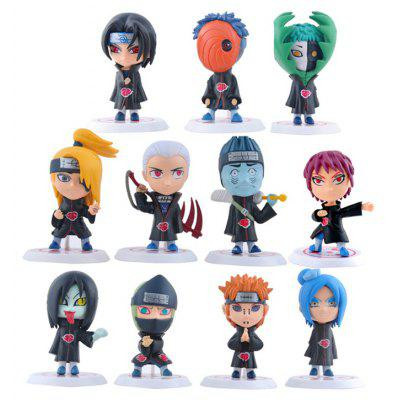 Highly Detailed Anime Movie Character Model Toy for Cartoon Fans - 11pcs / set