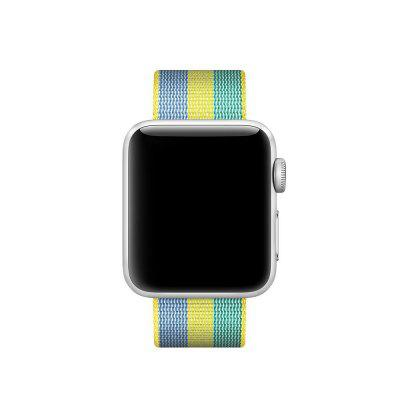 Modern Colorfu Nylon Watchband for 42mm Apple WatchApple Watch Bands<br>Modern Colorfu Nylon Watchband for 42mm Apple Watch<br><br>Function: Fixed watch<br>Material: Nylon<br>Package Contents: 1 x Watchband<br>Package size: 19.00 x 5.00 x 1.50 cm / 7.48 x 1.97 x 0.59 inches<br>Package weight: 0.1600 kg<br>Product size: 18.00 x 4.00 x 0.50 cm / 7.09 x 1.57 x 0.2 inches<br>Product weight: 0.1500 kg