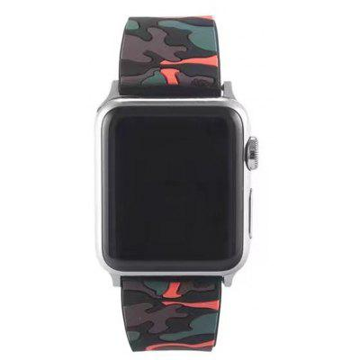 Camouflage Silicone Watchband for 38mm Apple Watch