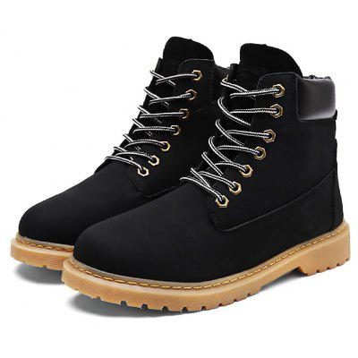 Male Trendy Solid Color High Top Casual Martin Boots