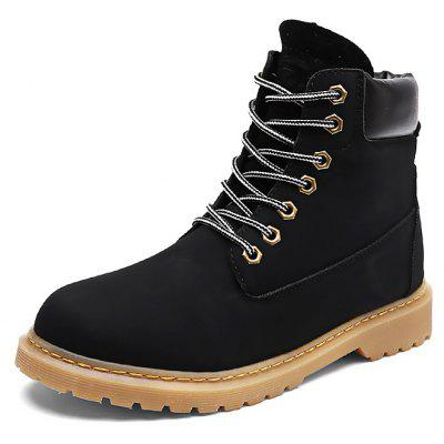 Male Trendy Solid Color High Top Casual Martin Boots new solid color casual sandals