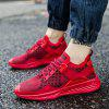 Male Trendy Ultralight Knitted Breathable Sneakers - RED