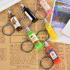 1pc Creative Keychain with Vine Bottle Design Pendant - COLORMIX