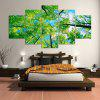 5PCS YSDAFEN Beautiful Trees Framed Decorative Canvas Print - COLORMIX