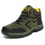 Male Hiking Durable Water Resistance Ankle Top Sneakers - ARMY GREEN
