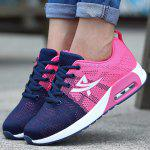 Female Breathable Soft Air Cushion Running Sneakers - PINK AND WHITE AND DEEP BLUE